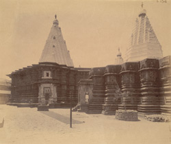 View of south-east corner of the Amba Bhai Temple, Kolhapur